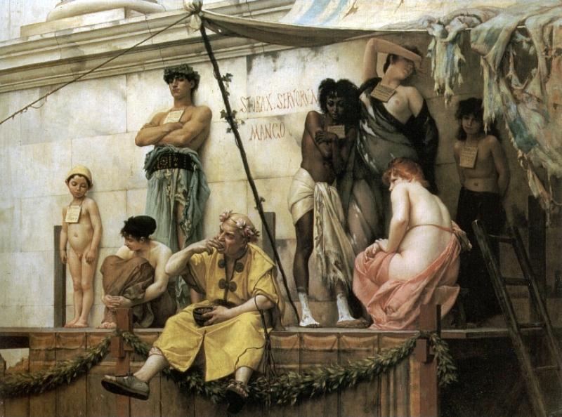 Le marché aux esclaves de Gustave Boulanger v.1882