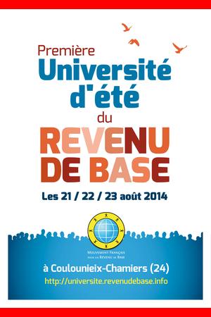 Université d'été du Revenu de Base 2014