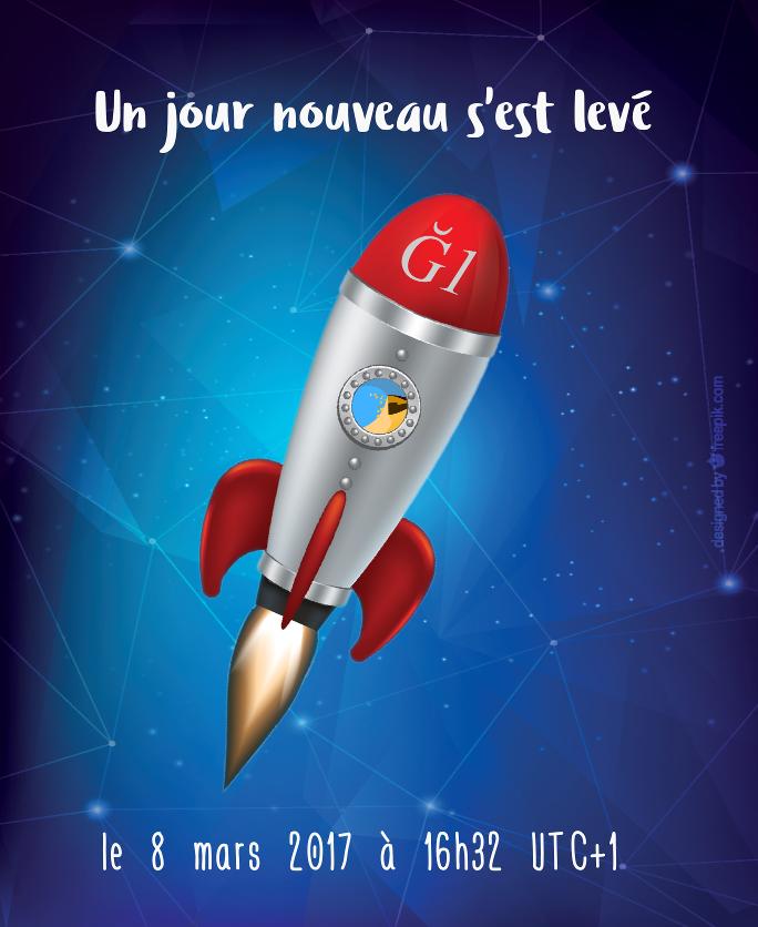 La fusée Duniter Ğ1